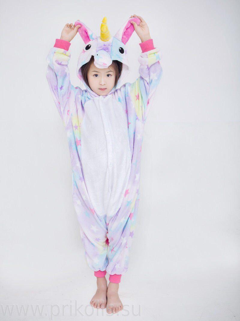 Пижама Кигуруми Единорог со звездочками детская. Рейтинг  a47f1f2d18177