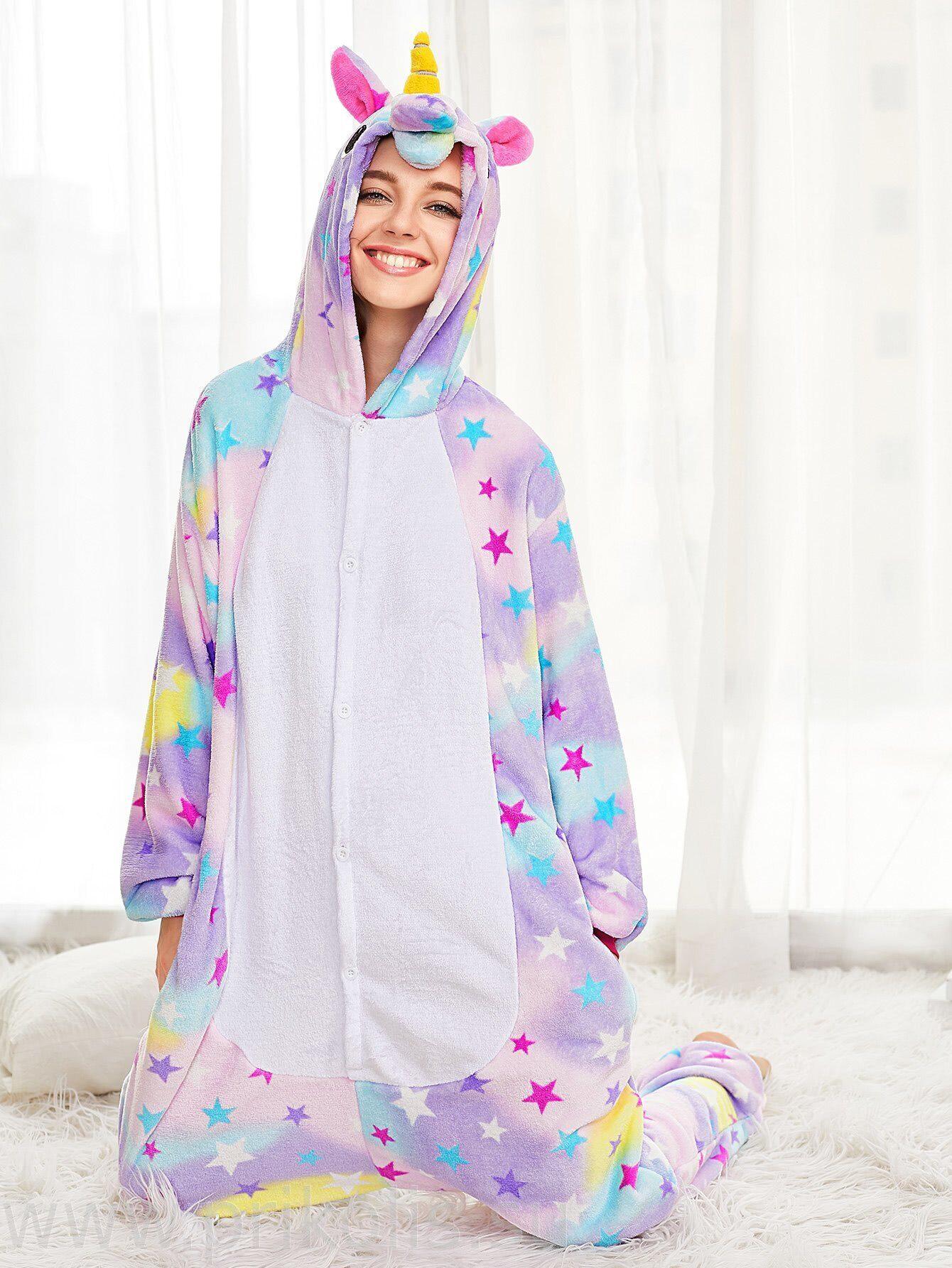 Пижама Кигуруми Единорог со звездочками. Новинка 8a27a941edf88