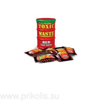 Леденцы TOXIC WASTE RED